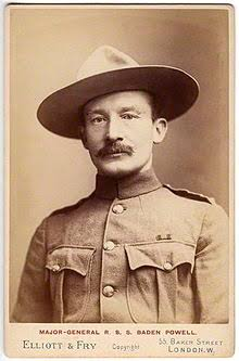 Lord Baden Powell, founder of scouting